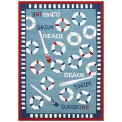 Beachfront Orford Rug Blue/Multi