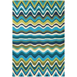 Beachfront Cannon Beach Rug  Multi/Ivory