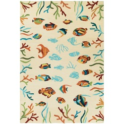 Beachfront Ocean Floor Rug  Multi