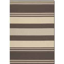 Five Seasons South Padre Chocolate/Cream Outdoor Rug