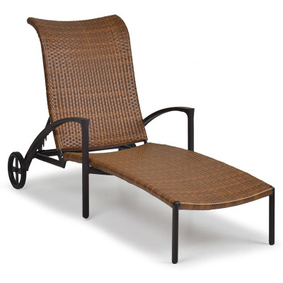 Resin Wicker Chaise Lounge