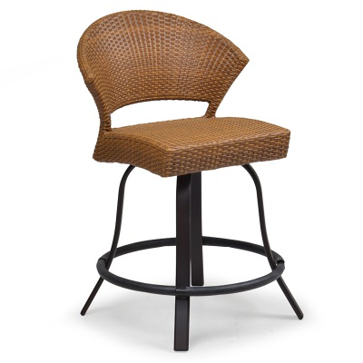 Resin Wicker Swivel Counter Stool