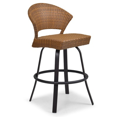 Resin Wicker Swivel Bar Stool