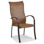 Resin Wicker High Back Dining Chair
