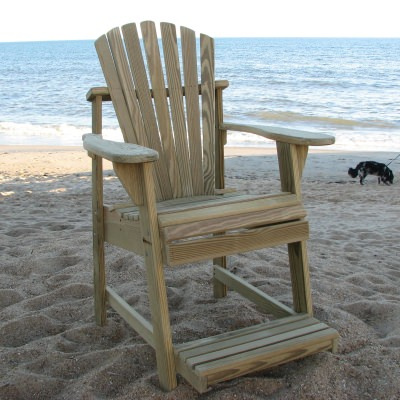 Adirondack Balcony/Pub Chair - Natural