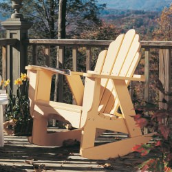 Fanback Collection Adirondack Rocker - Pine -