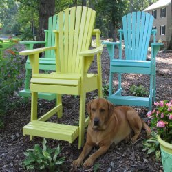Adirondack Balcony/Pub Chair - Painted