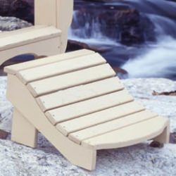 Fanback Collection Adirondack Footrest - Pine -