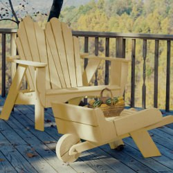 Fanback Collection Adirondack Two-Seater - Poly -