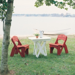 Fanback Collection Single Picnic Chair - Pine -