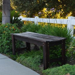 Cedarwood 4 Ft. Backless Garden Bench