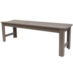 5 Ft. Backless Cedar Garden Bench