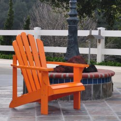 White Folding Adirondack Chair