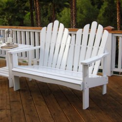 White Adirondack Loveseat