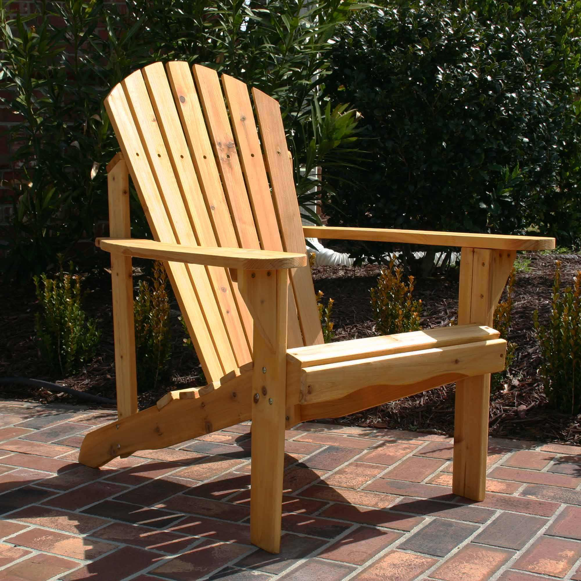 Superbe Exclusive Fan Back Wood Adirondack Chair   Honey Gold Stained ...