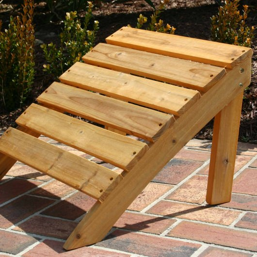 Wood Combo Chair: Exclusive Folding Wood Adirondack Chair And Ottoman Combo