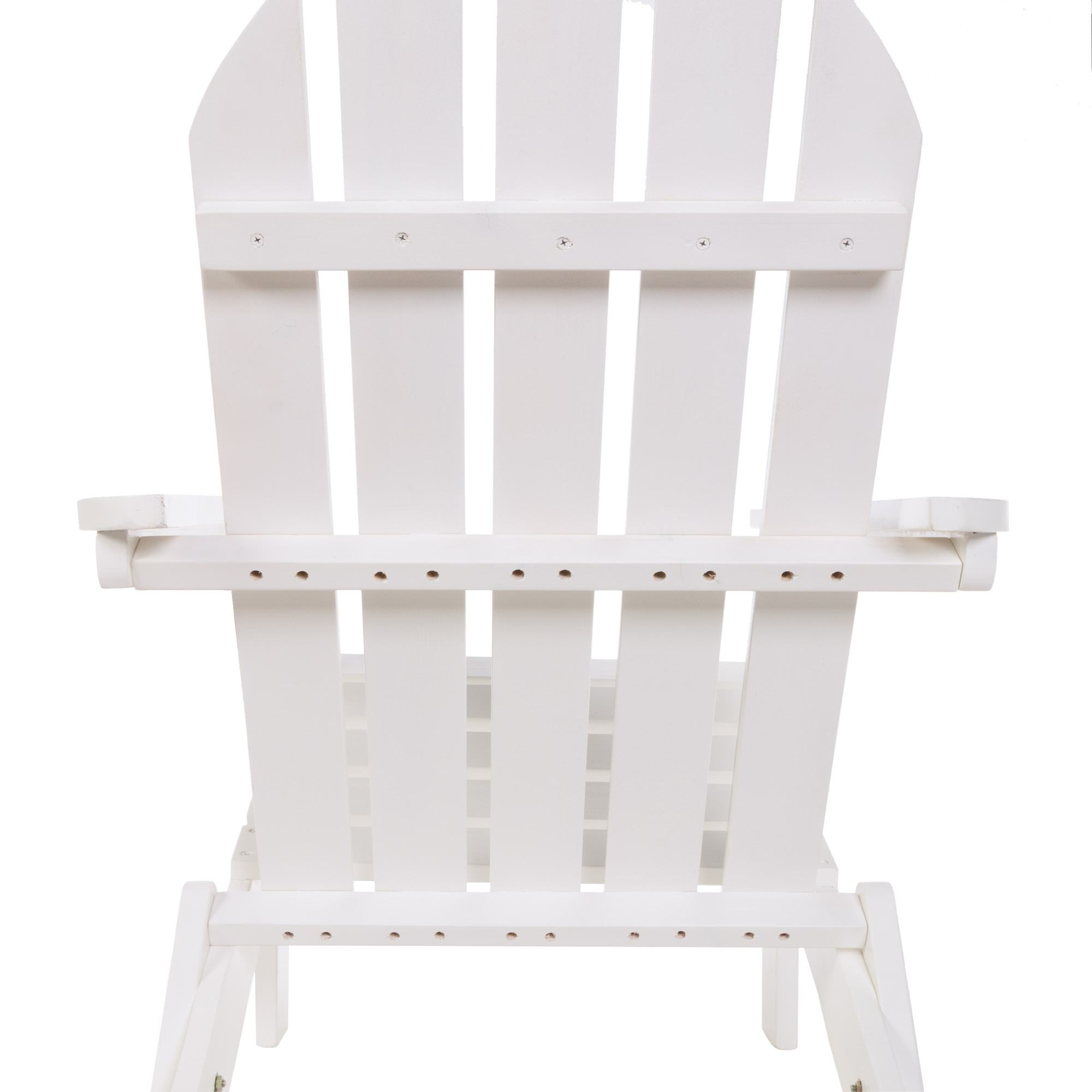 ... Exclusive Folding Wood Adirondack Chair   Painted White