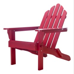 Exclusive Folding Wood Adirondack Chair - Painted Red