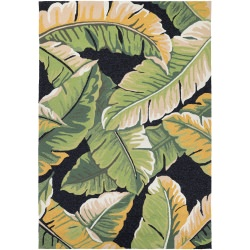 Covington Rainforest Rug  Forest Green/Black