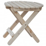 Rustic Cedar Round Folding Table
