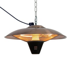 Gunnison Brushed Copper Hanging Halogen Patio Heater