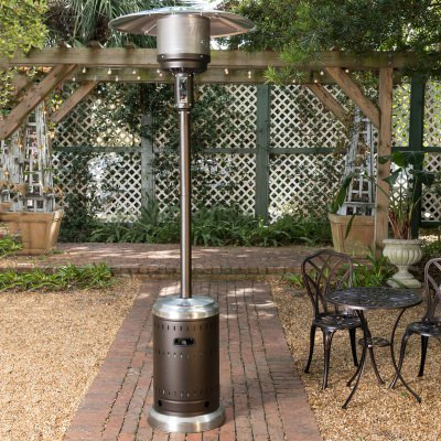 Ash and Stainless Steel Commercial Patio Heater