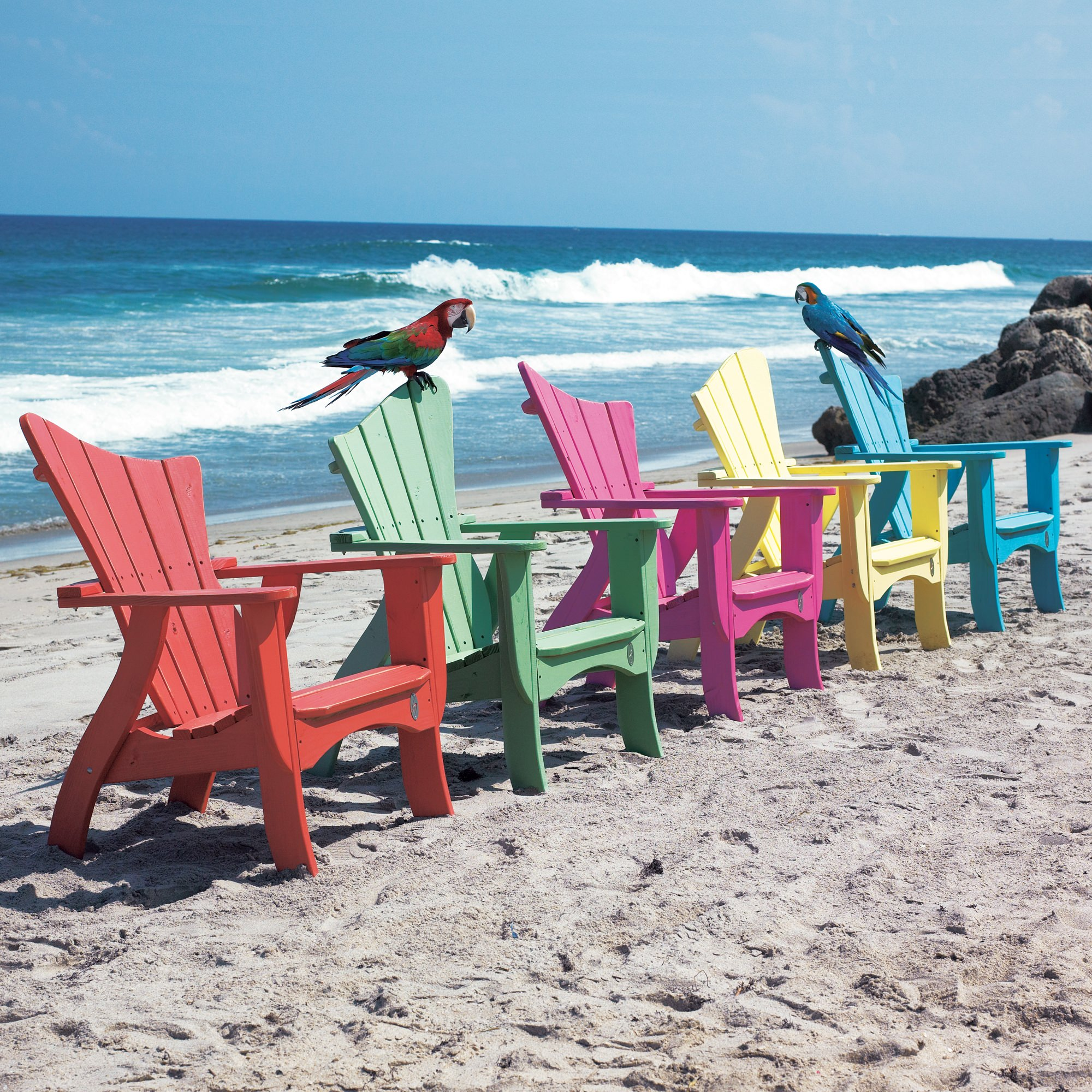The Wave Collection Adirondack Chair   Poly ...