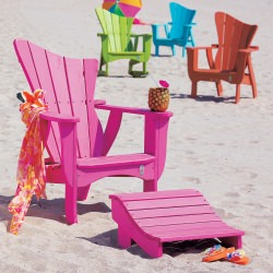 The Wave Collection Adirondack Chair - Poly -