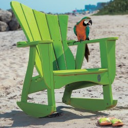 Wave Collection Adirondack Rocker - Pine -