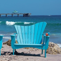 Wave Collection Adirondack Settee - Pine -