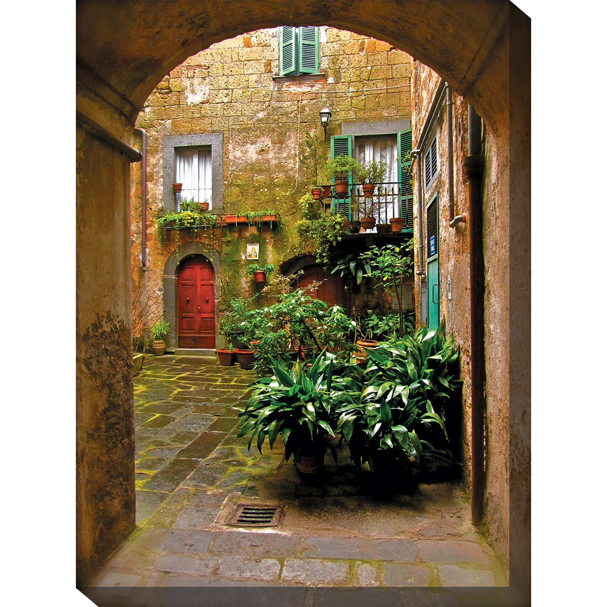 Italian courtyard outdoor wall art piece by west of the for Outside wall art