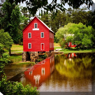 Red Gristmill Outdoor Wall Art Piece