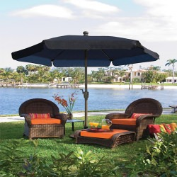 7.5 Ft. Tilt Vinyl Garden Umbrella with Bronze Pole