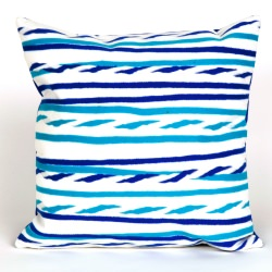 Twist Stripe Sky Outdoor Pillow