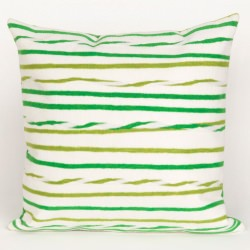 Twist Stripe Leaf Outdoor Pillow