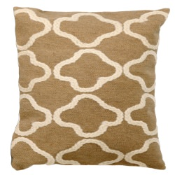 Crochet Tile Linen Outdoor Pillow
