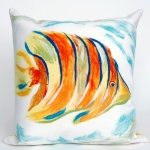 Angel Fish Pearl Outdoor Pillow