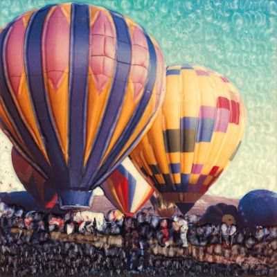 Hot Air Number 2 Outdoor Wall Art Piece