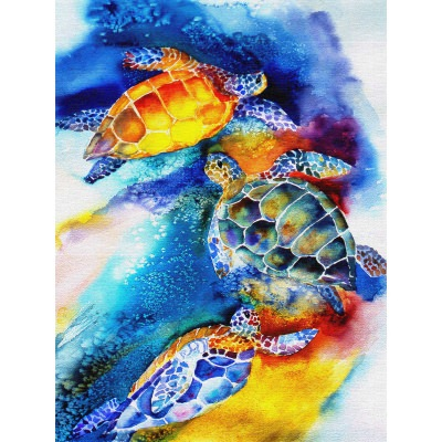 Turtle Play Outdoor Wall Art Piece