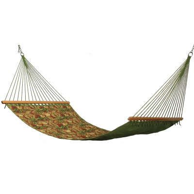 Large 2 Person Soft Polyester Quilted Hammock - Palm Green