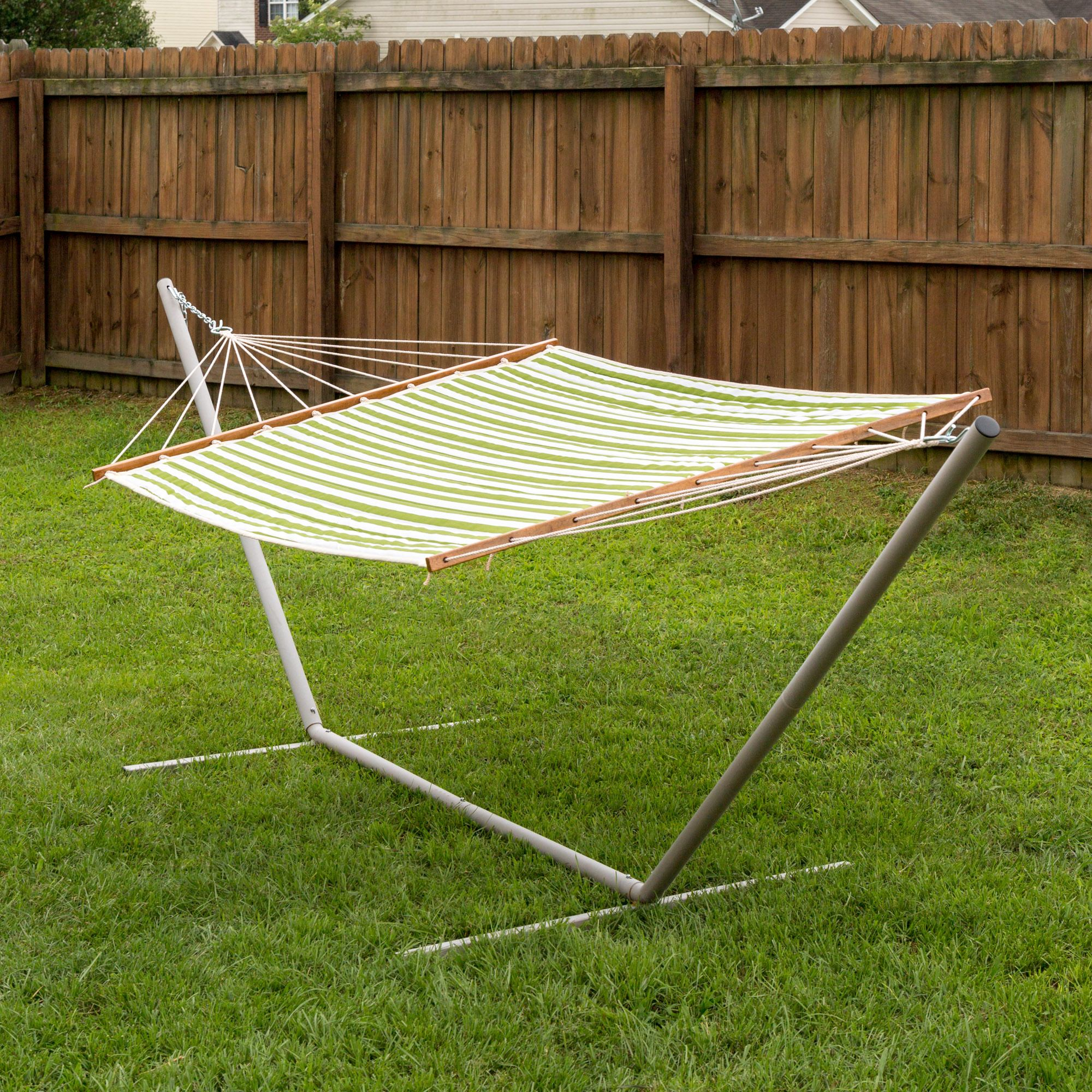 large 2 person soft polyester quilted hammock   cabana green quilted hammock   cabana green  essentials   dfohome  rh   dfohome