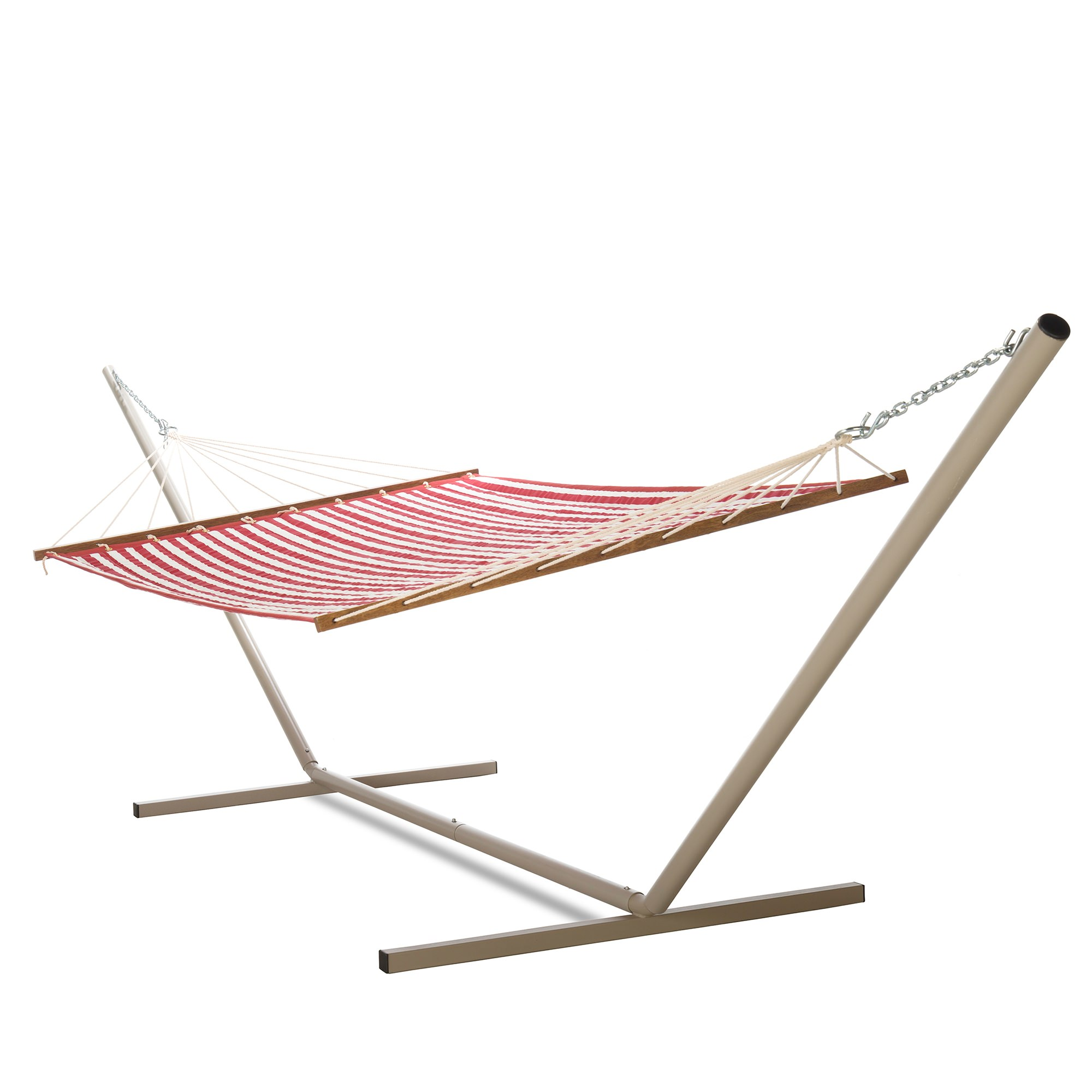 large 2 person soft polyester cabana red quilted hammock with stand quilted hammock   cabana red  essentials   dfohome  rh   dfohome
