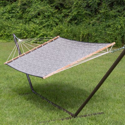 Large 2 Person Soft Polyester Quilted Hammock - Gator Skin