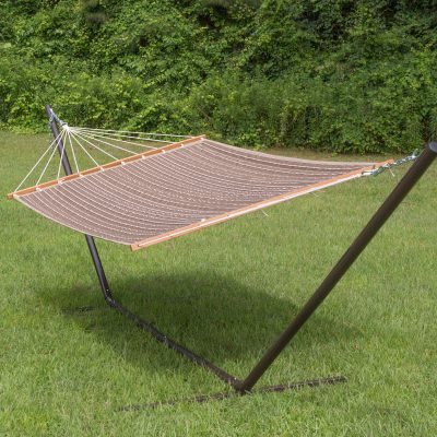 Large 2 Person Soft Polyester Quilted Hammock - Harwood Cocoa