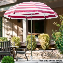 7.5 Ft. Acrylic Canopy Crank Steel Patio Umbrella with Tilt