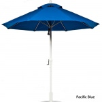 7.5 Ft. Crank Fiberglass Market Umbrella with White Pole