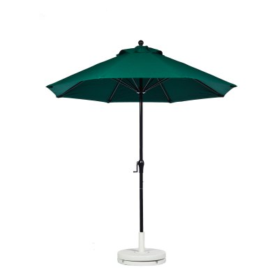 7.5 Ft. Crank Lift Fiberglass Market Umbrella with Black Pole