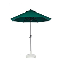 7.5 Ft. Crank Fiberglass Market Umbrella with Black Pole