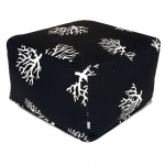 Black Coral Large Outdoor Ottoman