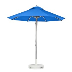 11 Ft. Pulley Aluminum Market Umbrella with Silver Mist Frame